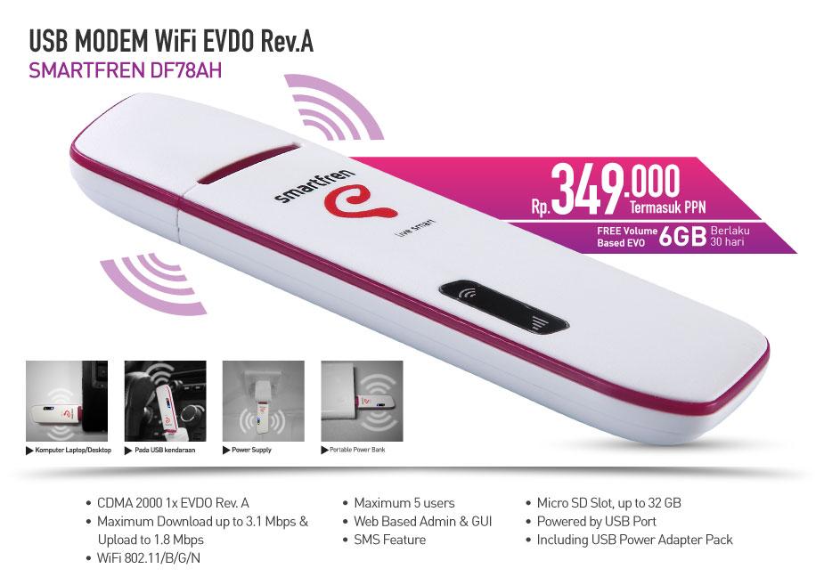 Modem Wifi Smartfren DF78AH Rev A